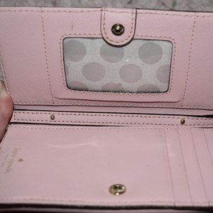 Pink Kate Spade Leather Wallet (with purse strap)